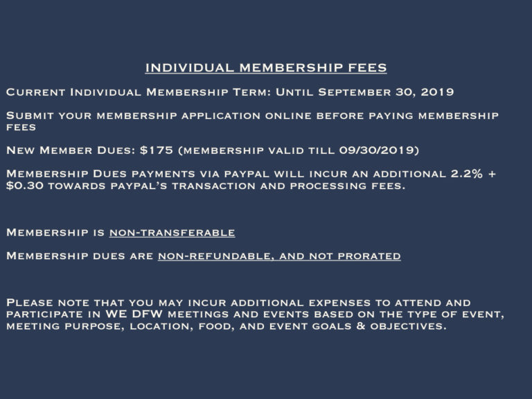 Membership Fees & Term