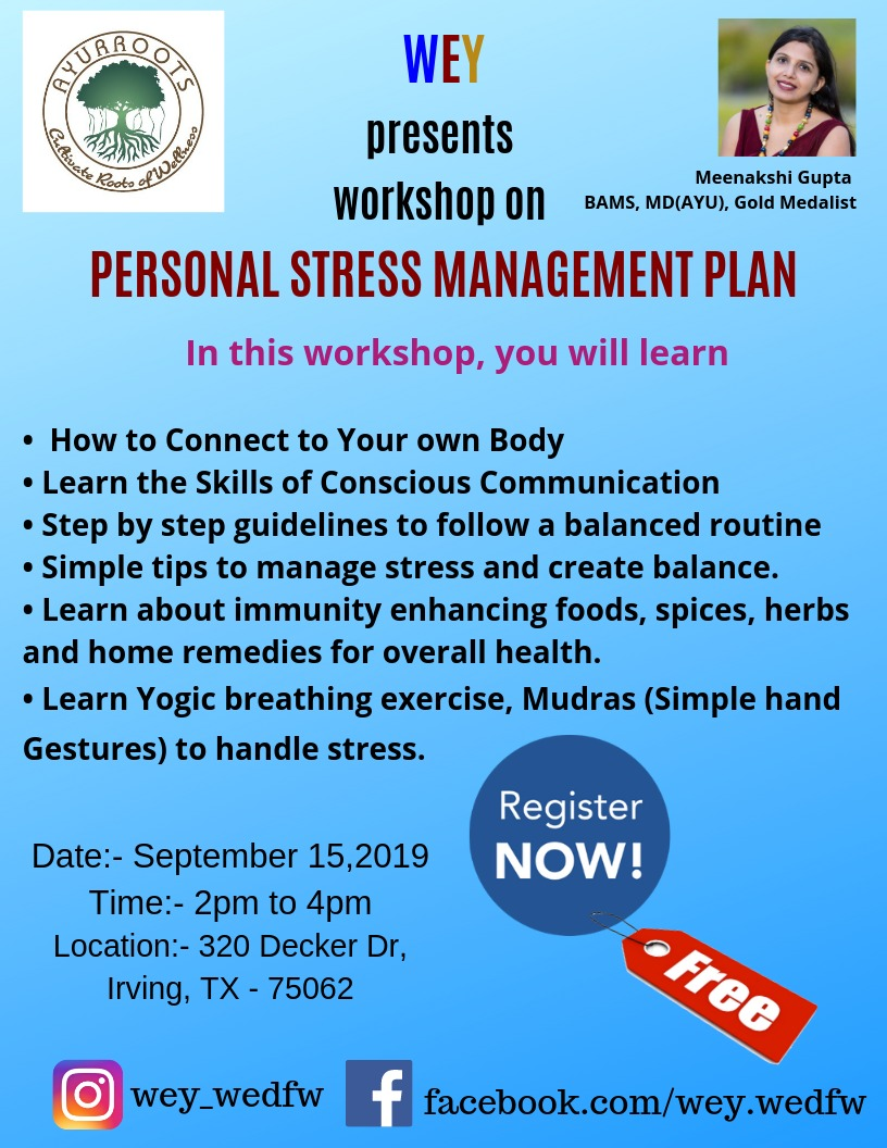 Personal Stress Management Plan with Meenakshi Gupta